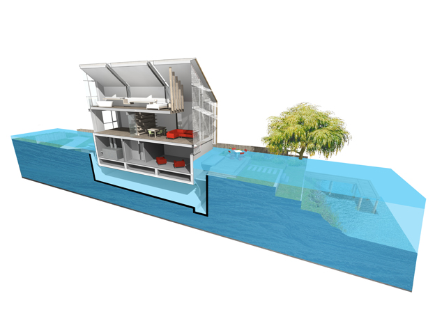 106-[2]-baca-Amphibious House-Flooded