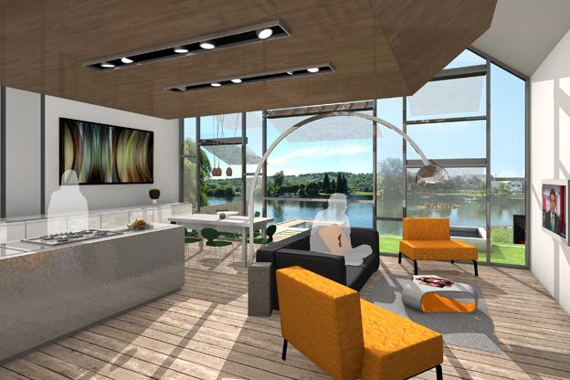 106-[4]-baca-Amphibious House-living room view