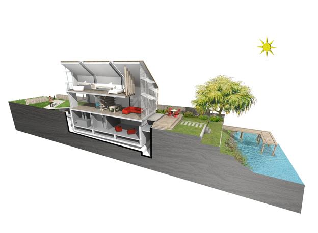 106-{7]-baca-Amphibious House-Static Position