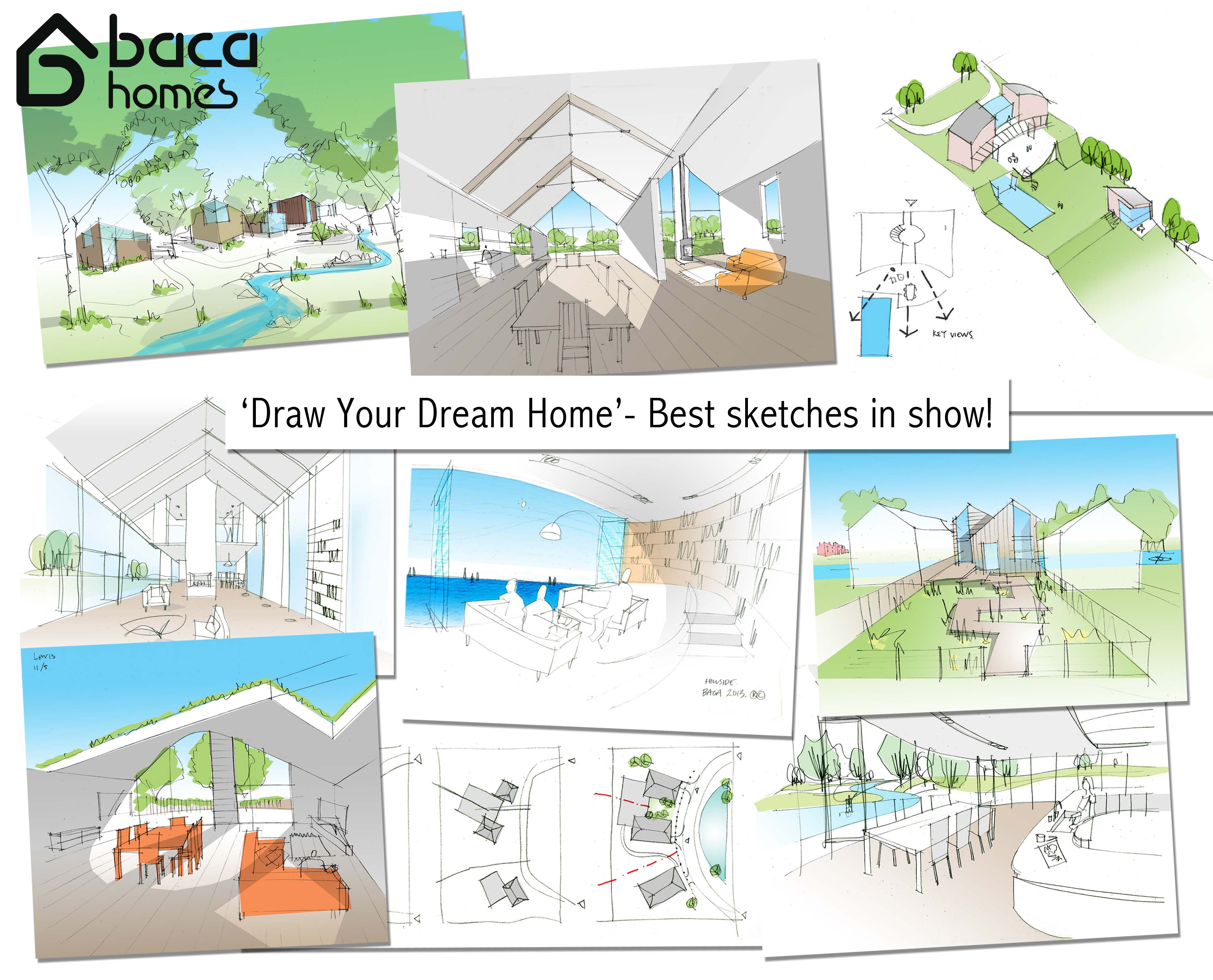 Dream House Drawing Inside to 'draw Your Dream Home'