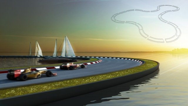 Floating Race Track ©Baca Architects